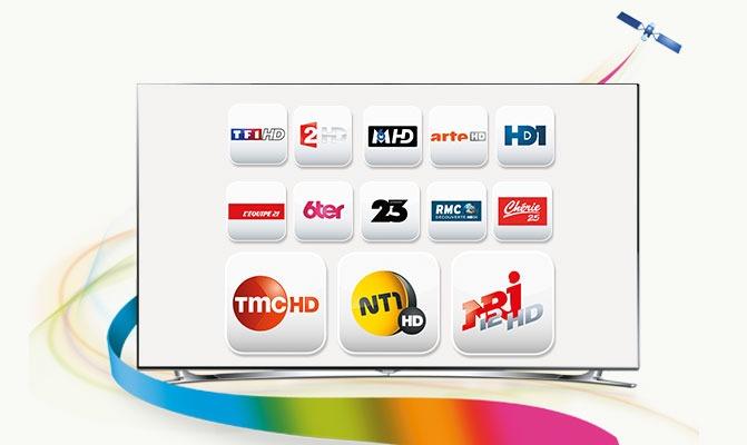 TMC et NT1, les deux chaînes du groupe TF1, gagnent en qualité d'image en proposant aujourd'hui leurs programmes en Haute Définition, en complément de leur offre en Définition Standard. Fransat