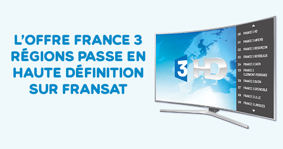 France 3 en HD sur Fransat