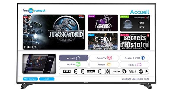 Fransat Connect avec les TV compatibles Panasonic