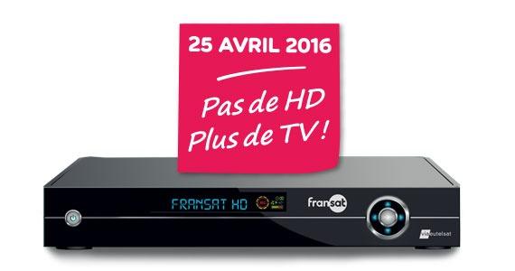 Fransat assure la diffusion HD SD au 25/04/2016