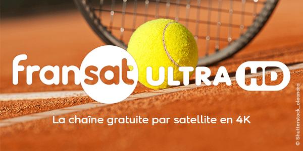 Roland Garros en UHD et HDR sur Fransat Ultra HD