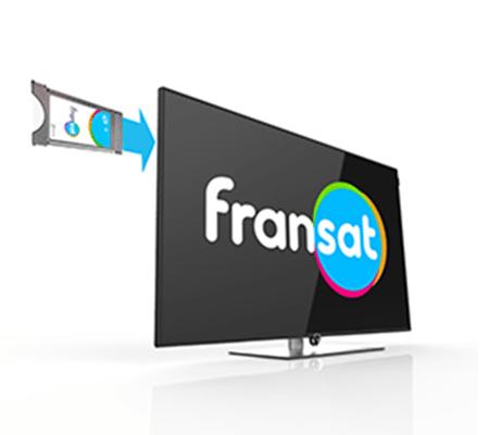 Module CI+ Fransat et téléviseur Loewe