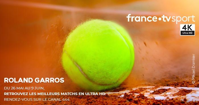 Roland Garros en Ultra HD sur FRANSAT