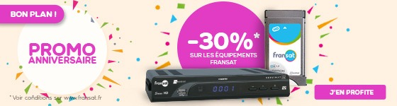 Promo anniversaire sur l'équipement FRANSAT