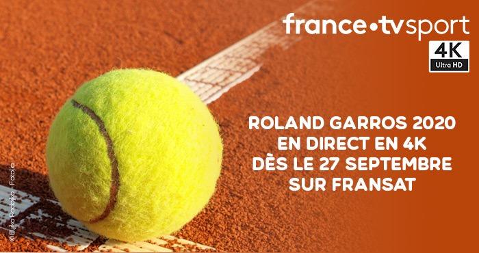Roland Garros du 27 septembre au 11 octobre sur Fransat