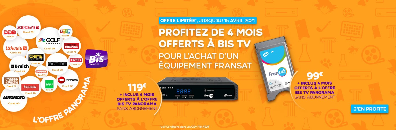 BIS TV OFFERTS PENDANT 4 MOIS : PROFITEZ DE BIS TV GRATUITEMENT