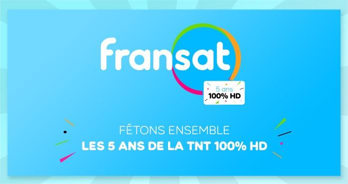 Fêtez avec nous les 5 ans de la TNT 100% HD FRANSAT !