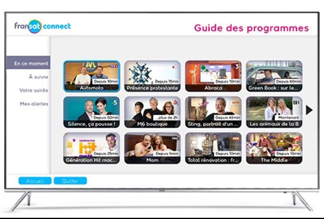 Choisissez vos programmes directement depuis votre portail FRANSAT Connect