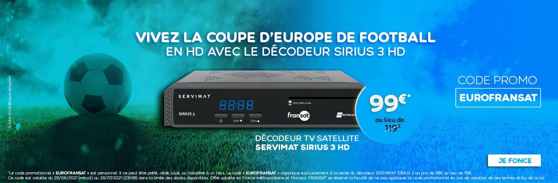 """Promotion sur le décodeur FRANSAT : """"EUROFRANSAT"""""""