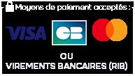 Visa, Carte Bleue, Mastercard, et virements bancaires